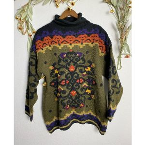 Vintage Kitty Hawk earthtone knit sweater
